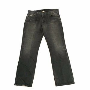 Lucky Brand Jeans Wide Leg Distressed Button Fly